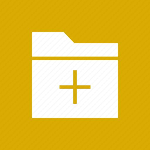 add, data, file, folder, storage icon