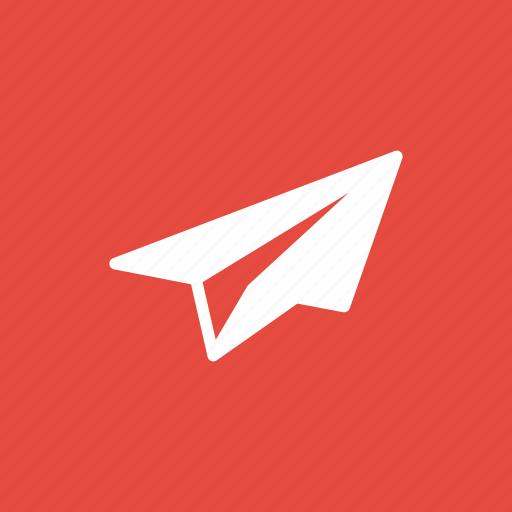 airplane, education, eml, message, send icon