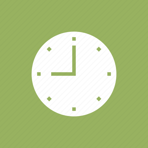 electronic, nine, time, wall, watch icon