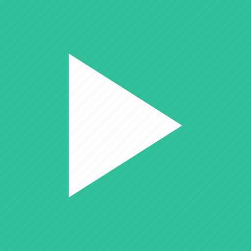 arrow, film, movie, play, player, start, video icon