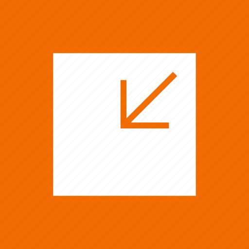 arrow, minimize, reduce, shrink icon