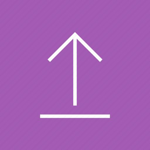 arrow, direction, navigation, up, upload, uploading icon