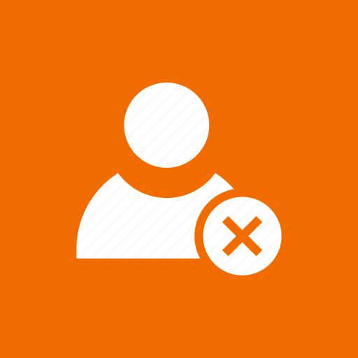 block, delete, person, remove, user icon
