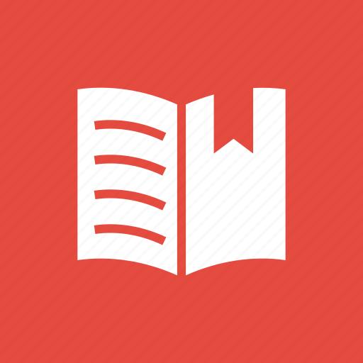book, bookmark, education, learning, mark, ribbon, school icon
