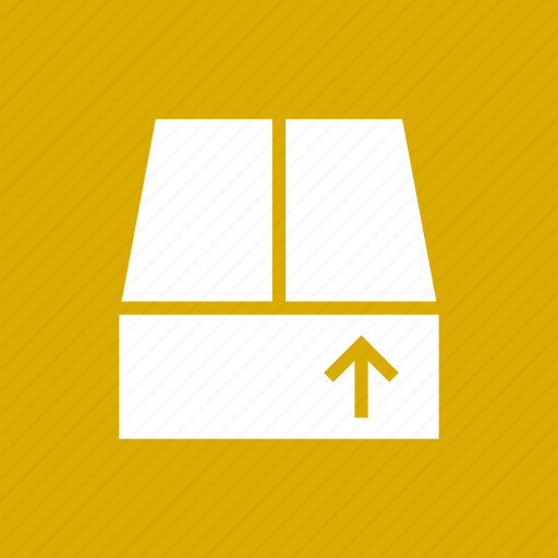 box, crate, delivery, package, save, upload icon