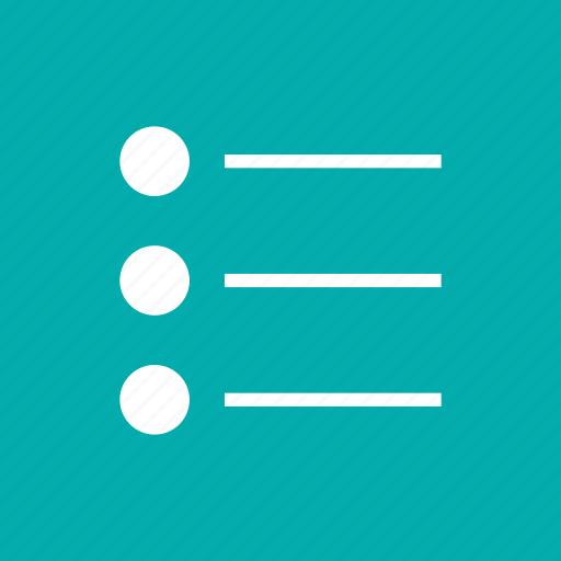 bullet, items, lines, list, menu, options, points icon
