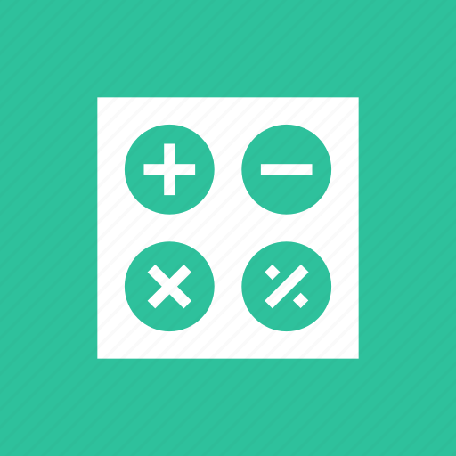 business, calculate, calculation, calculator, education, math icon