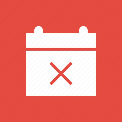 calendar, date, delete, invite, meeting, remove icon