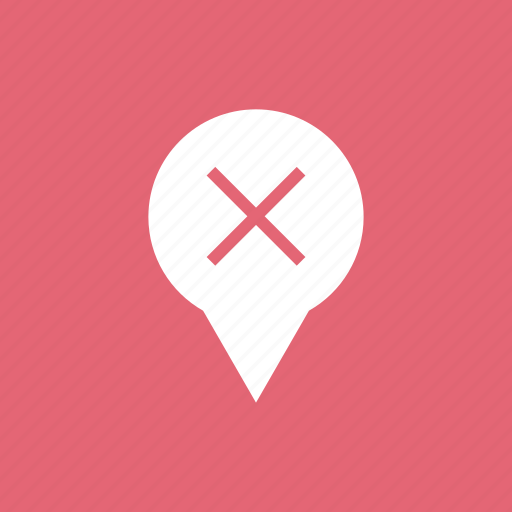 Cancel, cross, delete, location, marker icon - Download on Iconfinder