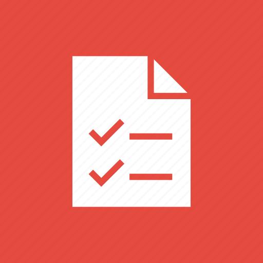 check, checklist, documents, marks, todo icon