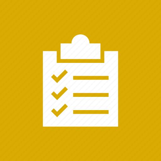 checklist, clipboard, inventory, list, report, tasks, todo icon