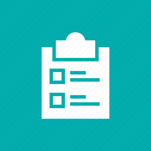 business, checking, clipboard, list, report, tasks, verification icon