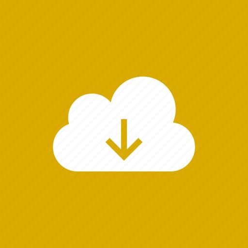 cloud, data, download, downloading, save, storage icon