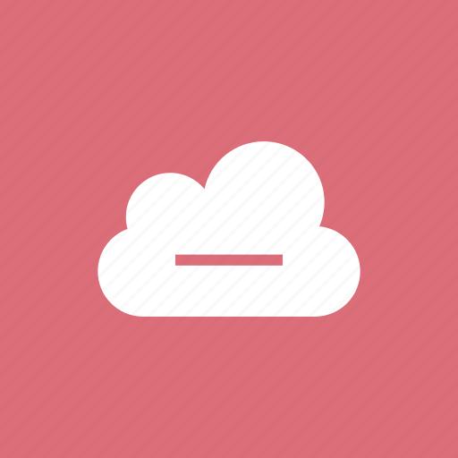 cloud, delete, minus, remove icon