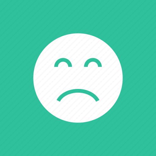 depression, frown, sad, upset icon