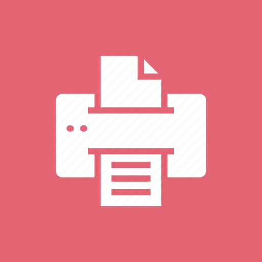 business, device, education, electronic, office, paper, print icon