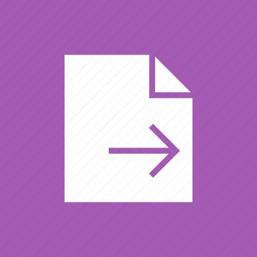 contract, document, file, send icon