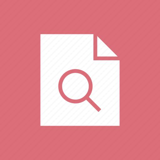 contract, document, file, paper, search icon