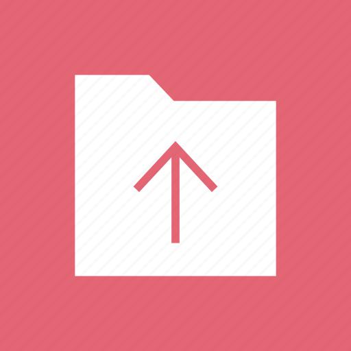 arrow, arrows, folder, up, upload, uploading icon