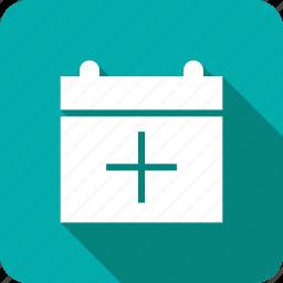 add, calendar, date, event icon