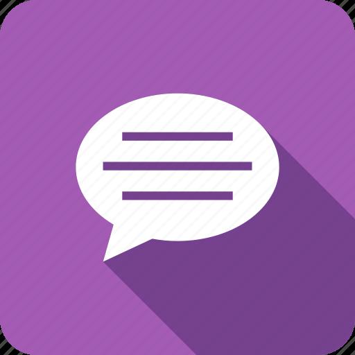 bubble, chat, comment, speech, talk icon