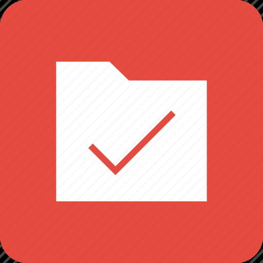 accept, check, data, folder, ok, storage icon