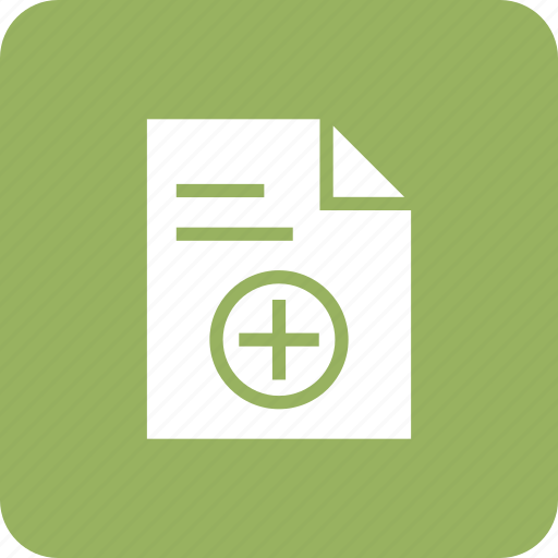 add, agreement, contract, document, file, notic, plus icon