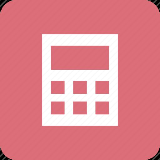 business, calculate, calculator, device, finance, math icon