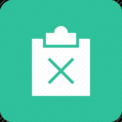 clipboard, copy, delete, minus, paste, remove icon