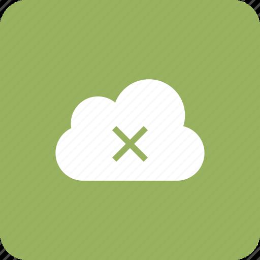 cloud, data, error, remove, storage, warning icon