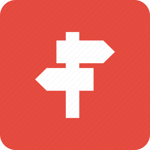crossroads, direction, location, navigation, sign icon