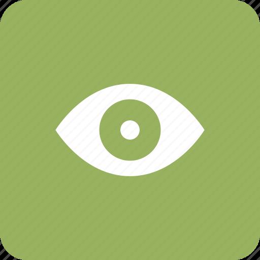 enable, eye, view, views, watch icon