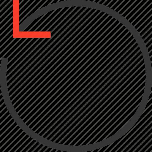 arrow, back, before, circle, circular, rewind icon