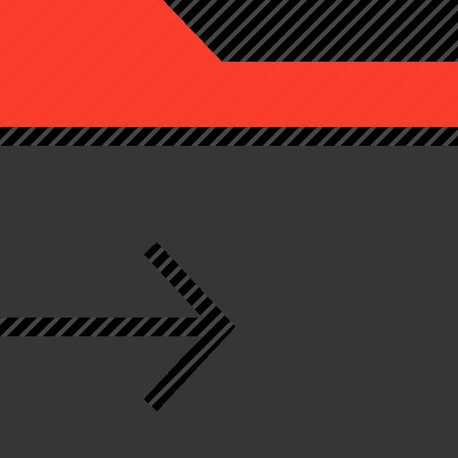 arrow, data, document, file, folder, send icon