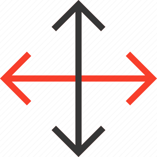 arrows, crossroads, direction, expand, full, orientation, screen icon