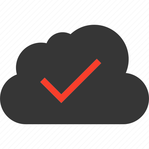 blue, check, cloud, cloudy, computing, data icon