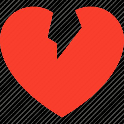 Break, heart, dumped, heartbreaker, heartbroken icon - Download