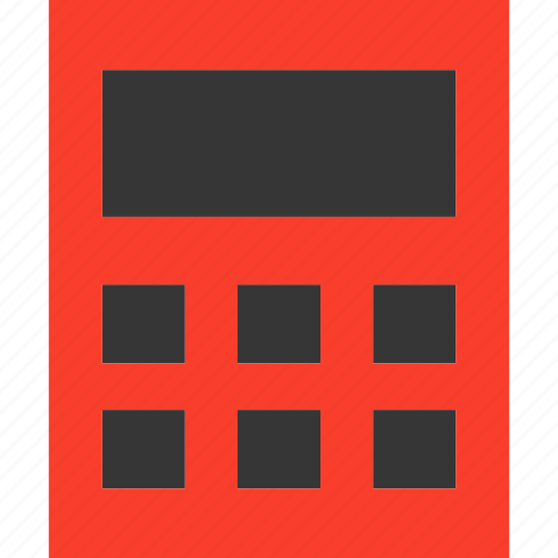 business, calculate, calculator, device, finance, math icon