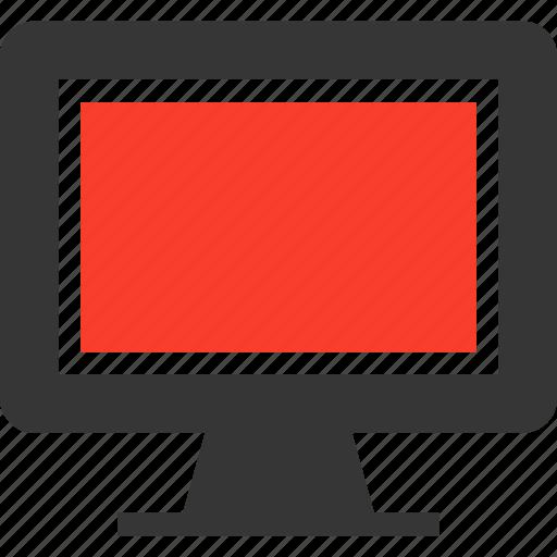 computer, cpu, device, display, monitor, screen icon