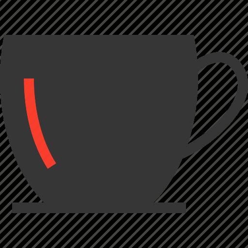 coffee, cup, glass, handle, tea icon