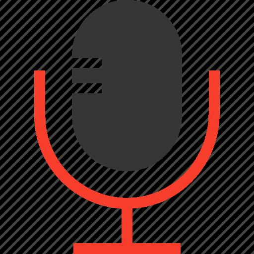 mic, microphone, radio, recording, speak icon