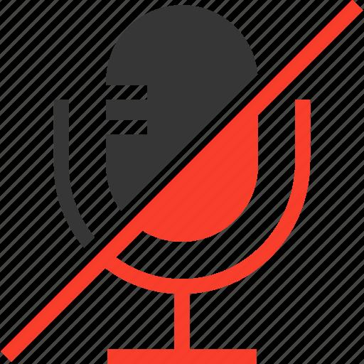 live, mic, multimedia, music, off, record icon