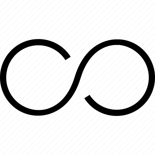 endless, eternity, infinity, loop icon, mathematical, maths, shows icon