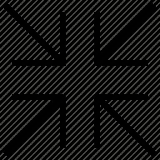 arrow, minimize, reduce, reduction, screen, ui, zoom icon icon icon
