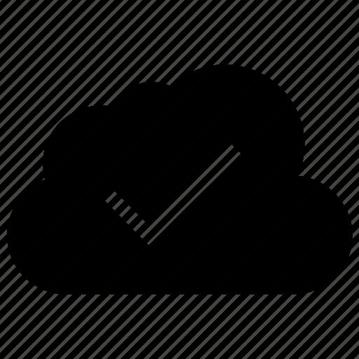 blue, check, cloud, cloud computing, cloudy icon, data icon