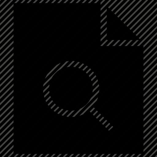 contract, document, file, paper, search icon icon