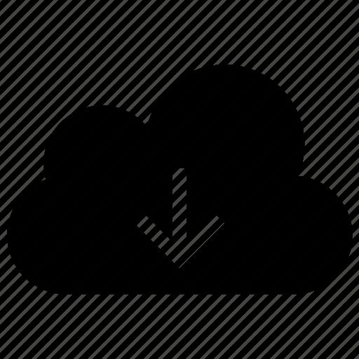 cloud, data, download, downloading, guardar, save, storage icon icon
