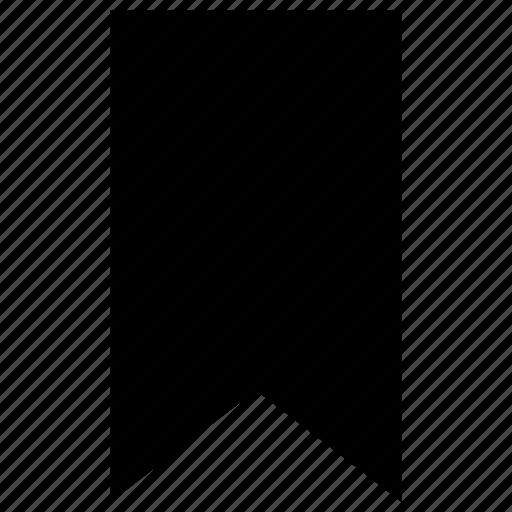 bookmark, favorite, ribbon, vertical icon icon