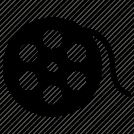 bobbin, film, movie, multimedia, reel icon icon