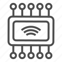 chip, internet of things, iot, wifix icon